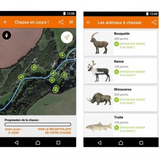 Application numérique Coëvrons Découvertes Chassez le bison