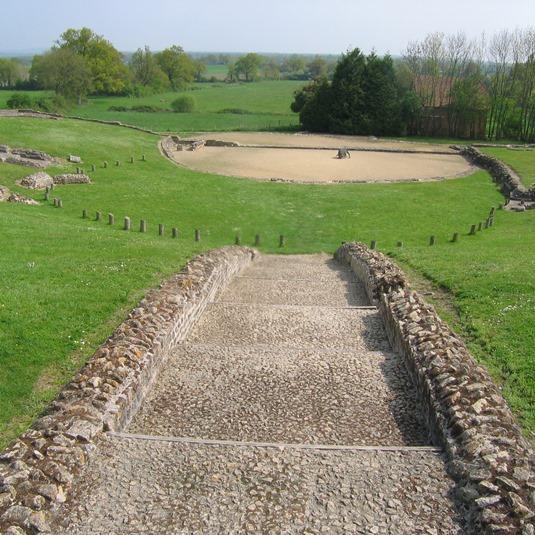 Théâtre romain de Jublains en Mayenne
