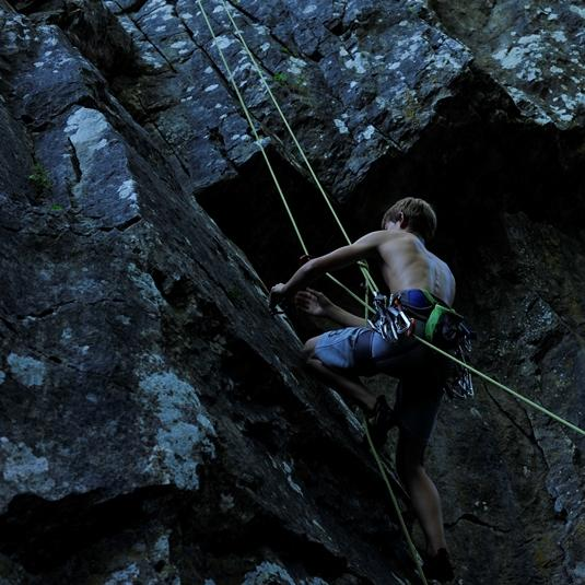 Escalade en Vallée des Grottes de Saulges en Mayenne