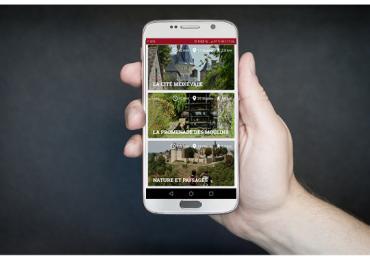 Application Coëvrons Découverte sur smartphone
