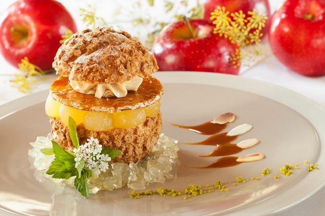 Dessert Paris-Sainte-Suzanne par le chef D. Peschard en Mayenne